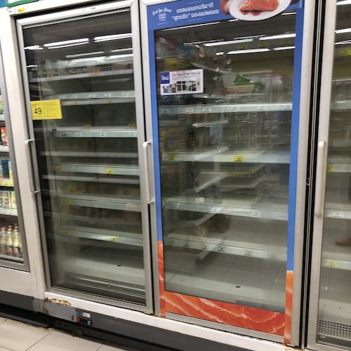 Bangkok supermarket  shutdown